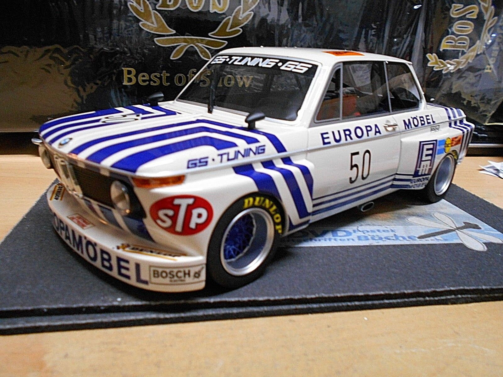 BMW 2002 DRM Euro Möbel Gr.5 GS Tuning Obermoser  50 1974 Resin limitd BOS 1 18