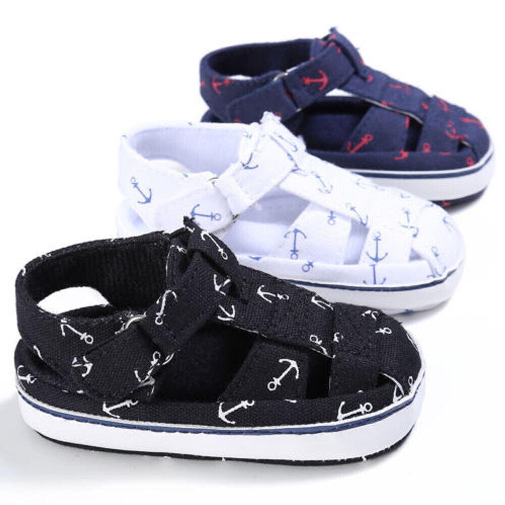 Baby Newborn Soft Crib Sole Leather Shoes Girl Boy Beach Pre