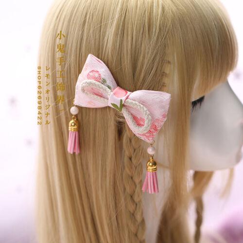 Hair Pin Lolita Hair Accessories Moe Sweet Japan Kawaii Bow Cute KC Kawaii #FFF