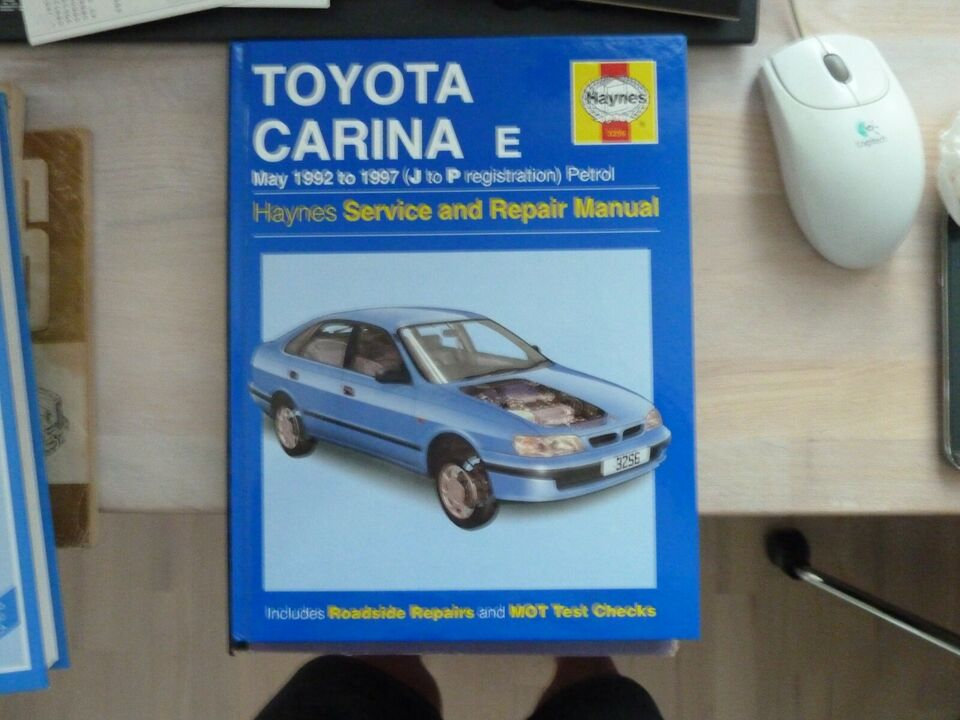 Værkstedshåndbog, Toyota Carina E