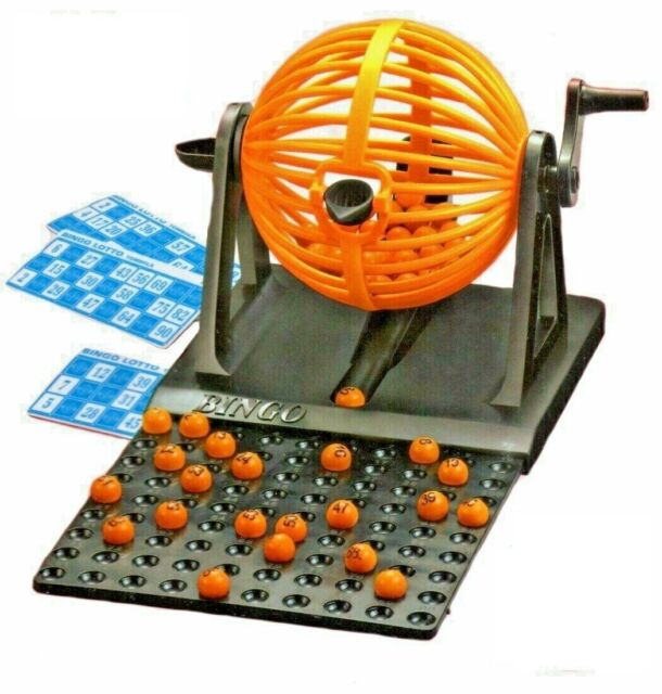 New Family Classic Bingo Lotto Game Revolving Machine With 90 Numbers & 12 Cards