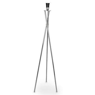 Modern Silver Chrome Tripod Floor Standing Lamp Base Home Lighting Lounge Light