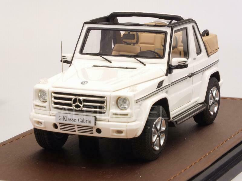 Mercedes G500 Cabriolet Final Edition 2019 blanc open roof 1 43 GLM GLM207103