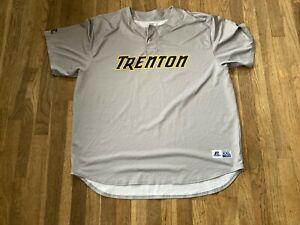 Matt Tracy Game Used Trenton Thunder Road Gray Jersey Yankees