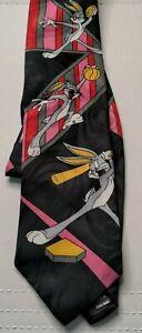 Bugs Bunny 1993 Warner Brothers Hot Cakes Baseball Basketball Football Tie