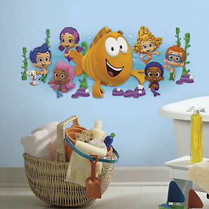 Bubble Guppies Giant Wall Decal Big Kids Stickers New Bedroom Or Bathroom Decor 689853912533 Ebay