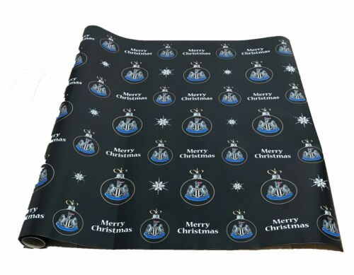 NEWCASTLE UNITED OFFICIAL PRODUCT CHRISTMAS GIFT WRAPPING PAPER 4 METRE BAUBLES