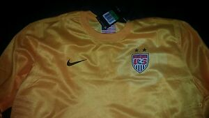 buy popular baf86 27916 Details about US Women National Soccer Team Goalkeeper Jersey Adult X-Large  yellow USWNT USA