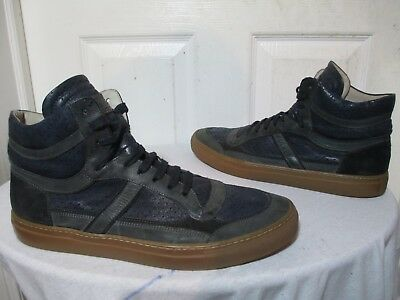 NAVY/GRAY LEATHER SNEAKERS EU 45