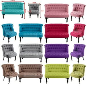Single-amp-Double-Seater-Sofa-Tub-Chairs-Tufted-Back-Buttons-Home-Office-Armchair
