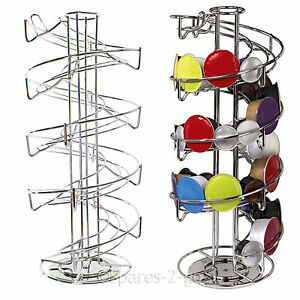 Revolving-40-Capsule-Spiral-Pod-Holder-Tower-Stand-Rack-for-Krups-Coffee-Machine
