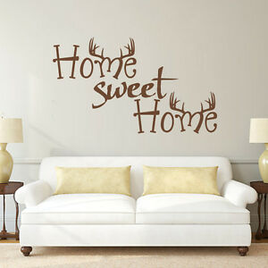 Image Is Loading Home Sweet Home Wall Sticker Inspirational Antler Hunting  Part 45
