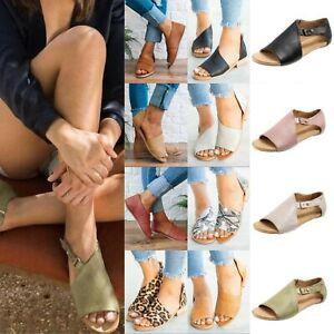 Womens-Summer-Flat-Gladiator-Sandals-Casual-Flip-Flops-Open-Toe-Beach-Shoes-Size
