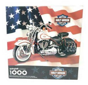 Harley-Davidson-Motorycycles-1000-Piece-Puzzle-PZL6198-Springbok-1998