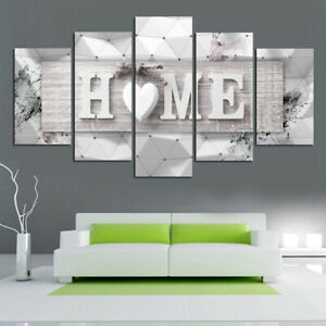 5pcs Unframed Modern Art Painting Canvas Print Wall Picture Home Room Decoration