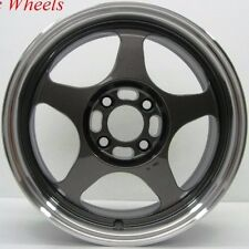 15X7 ROTA SLIPSTREAM RIMS 5X100 GUN METAL WHEEL FITS 5 LUG NEON CELICA COROLLA