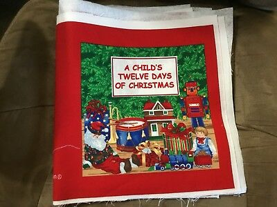 Twelve Days Of Christmas Cranston Cloth Book Ready To Sew Craft Ebay