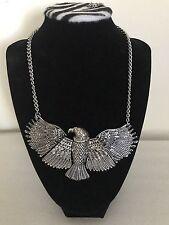 Zara Silver Metal Eagle Necklace