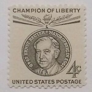 4-Cent-Champion-of-Liberty-Ernst-Reuter-Issue-US-Postage-Stamp-Single-MNH