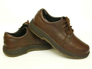 rockport brown all leather casual oxford walking shoes men