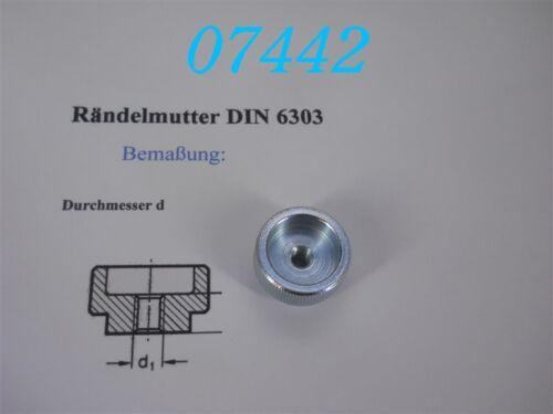 DIN 6303 M 6 RÄNDELMUTTER
