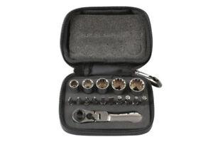 Socket-Sale-Zip-Pocket-Clip-Case-Sockets-Driver-Ratchet-Bit-Set-16pc-1-4-Drive