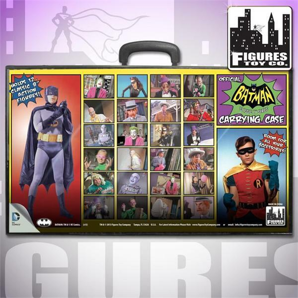 DC GREATEST HEROES BATMAN TV SERIES RETRO FIGURE CARRYING CASE MEGO NUOVO NEW