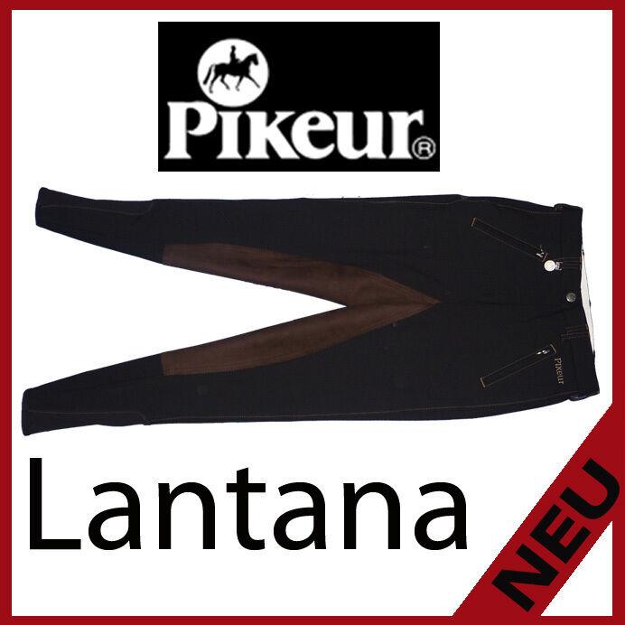 Pikeur DaSie Reithose Lantana in schwarz Besatz schoko viele Größen (9510-7907)
