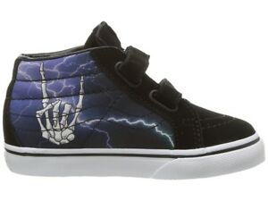 8549dd8061 Vans Shoes Kids SK8-MID REISSUE V ROCKER BONES Lightning   Black ...