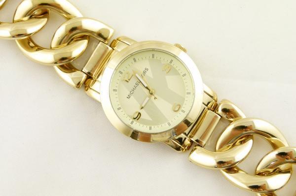 7a4e6b2c9e98d Michael Kors Women s Runway Twist Gold Tone Chain Watch MK3161 Authentic  for sale online