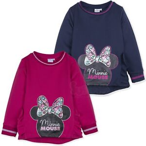Disney-Minnie-Mouse-Character-Girls-Warm-Jumper-Sweatshirt-Bow-Top-2-8-Years