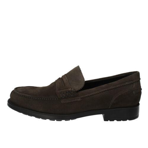 Mens shoes LE Vivaldi 42 Moccasins Grey Suede ad348-d