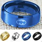 Fashion Titanium Men Boy Batman &Superman Symbol Logo Stainless Steel Jewelry