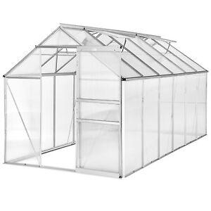 Détails sur Serre de jardin polycarbonate aluminium légume plante jardinage  375x185x195cm