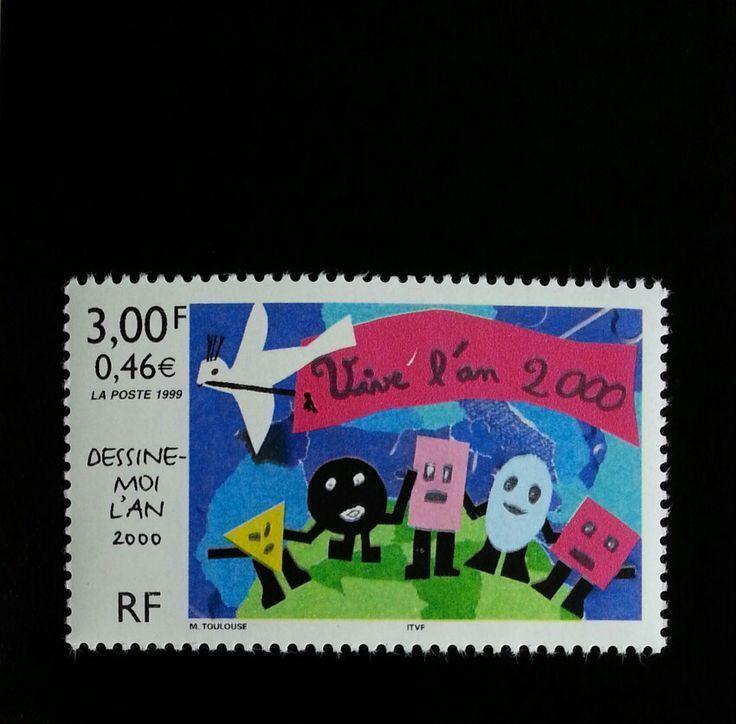 1999 France Stamp Design Contest Winner, Year 2000 Scot