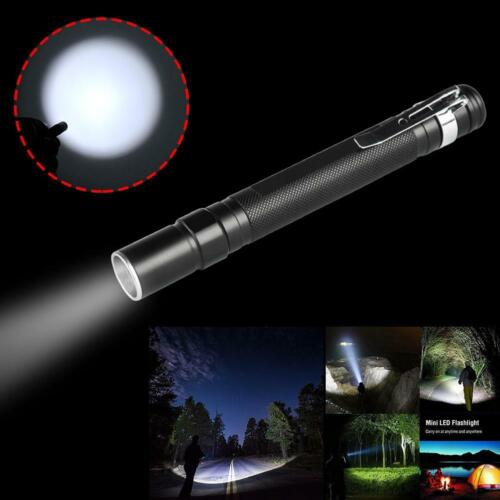 20000lm Telescopic Zoom Portable Clip Mini Aluminum LED Flashlight Penlight BR