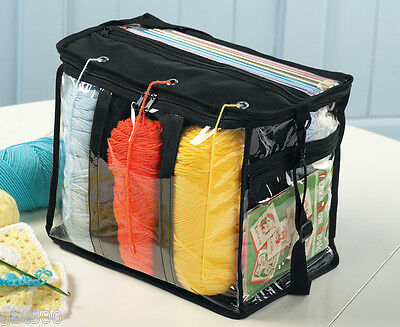 Yarn Tote IN STOCK Storage Bag Organizer No Tangle Portable Strap Case Knitting