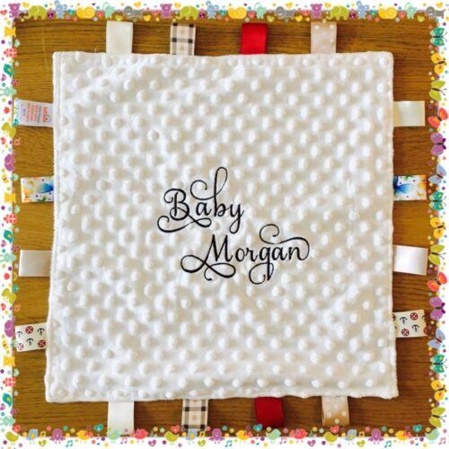 Nombre Personalizado Edredón Minky Frazada elegante fuente única Regalo Navidad Bebé