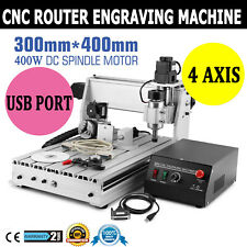 Cnc Router 3040 Engraving Milling Machine 4 Axis Usb Engraver Router Kit Diy