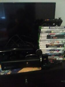 Microsoft Xbox 360 with games and accessories