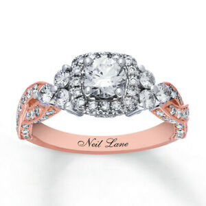 Neil-Lane-14k-Rose-amp-White-Two-Toned-Gold-1-5-8-ctw-Diamond-Engagement-Ring-7-5
