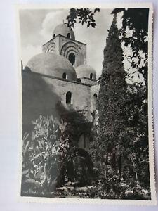Palermo-Sicily-Italy-Vintage-B-amp-W-Postcard-c1960s-St-John-039-s-Church-of-the-Hermit
