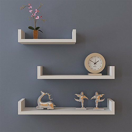 Pleasing Set Of 3 Floating Shelves Bookshelf Wall Mount Shelf Display Home Decor White Download Free Architecture Designs Remcamadebymaigaardcom