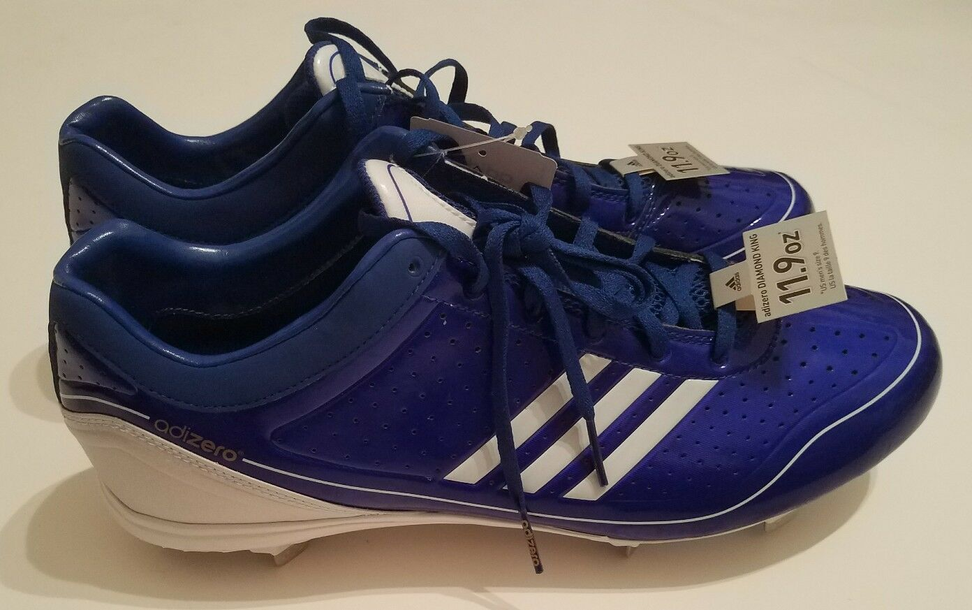 separation shoes 129f0 10eea ... Adidas adizero adizero adizero Diamond King Low Baseball Cleats Shoes  Blue Men s Size 13 New ba551c ...