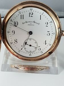 American watch & co pocket watch, non magnetic, hunter case ! works