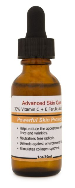 30% Vitamin C+E Ferulic Acid Serum,Skin Brighten Skin Age & Sun Damage Wrinkle