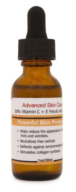 30% Vitamin C+E Ferulic Acid Serum,Skin Brighten Skin Age & Sun Damage Wrinkle
