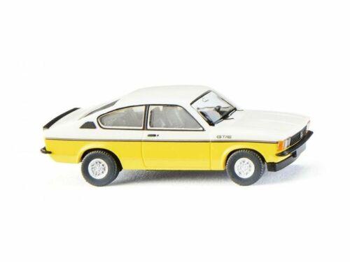 weiß//gelb 1:87 Wiking 22902 Opel Kadett C Coupé GT//E H0
