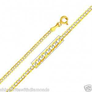 Solid-14k-Yellow-Gold-2mm-Diamond-Cut-Cuban-Chain-16-18-20-22-24-26-Inches