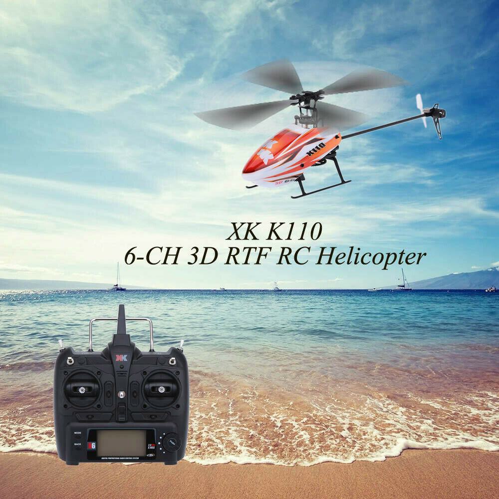 XK Blast K110 6CH 3D 6G System Brushless Motor RTF RC Helicopter Drone UFO H1Y2